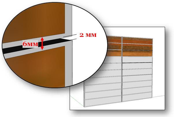 ширина обкатки фасадов