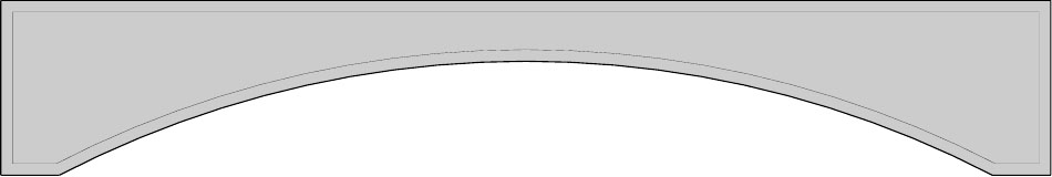 арка для мебели чертеж